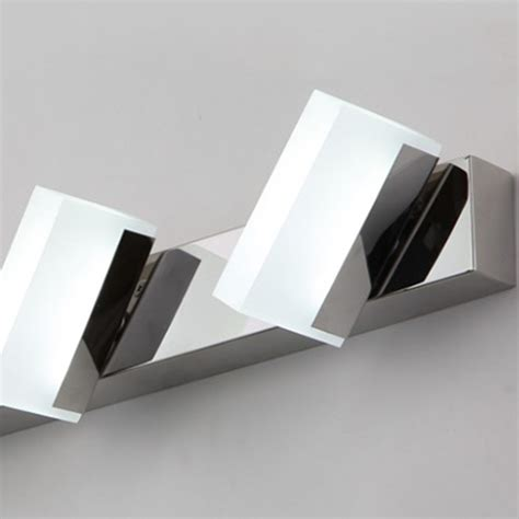 2 heads led 6w square acrylic mirror wall cosmatic lights