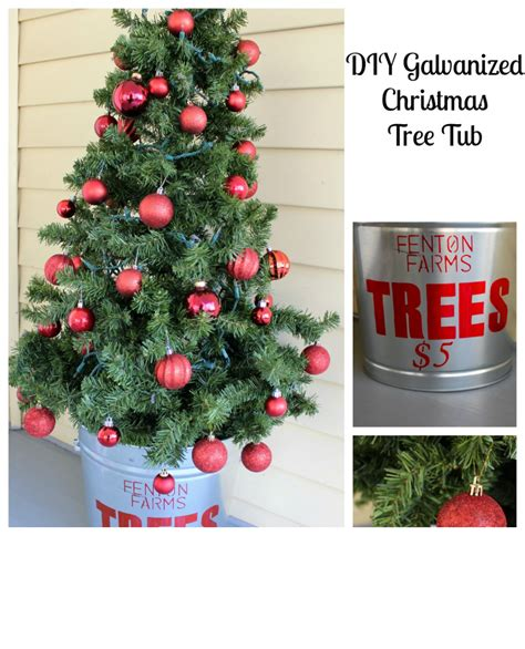 diy galvanized christmas tree tub 2 bees in a pod