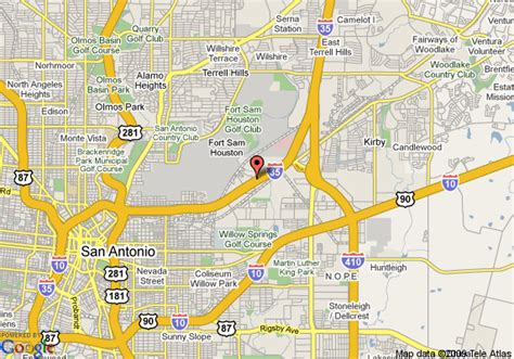 fort sam houston texas map san antonio sbc center