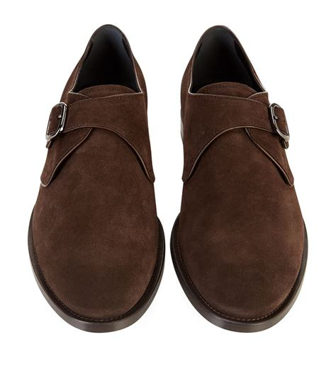 tod s suede lyst tod s suede single monk shoes in brown for