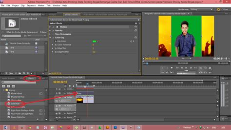 membuat video green screen abdul rojak uts quot tutorial membuat efek green screen pada