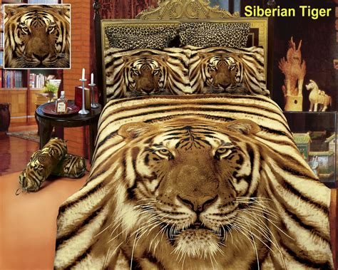 white tiger bedroom decor siberian tiger by dolce mela 6 pc duvet cover set bed in