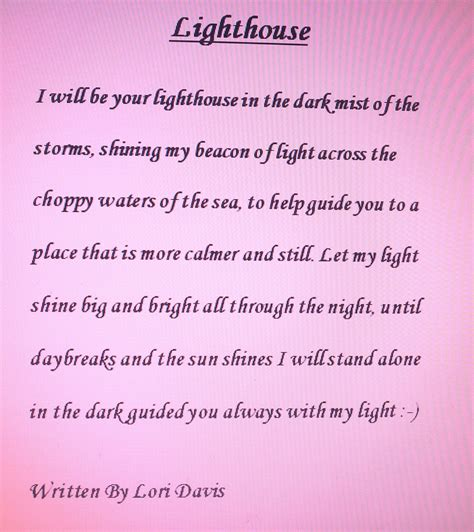 poems for lighthouse poems quotes quotesgram
