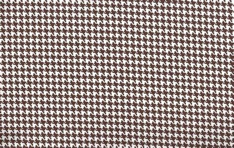 Brown And White Upholstery Fabric Cotton Quilt Fabric Houndstooth Check Chocolate Brown And