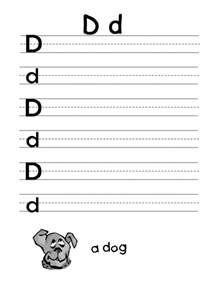 letter d worksheet for firstgrade preschool crafts