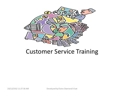 can my be trained to be a service customer service