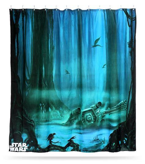 Star Wars Dagobah Shower Curtain Mightymega