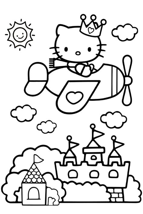 hello kitty airplane coloring page hello kitty coloring pages overview with a lot of kitties
