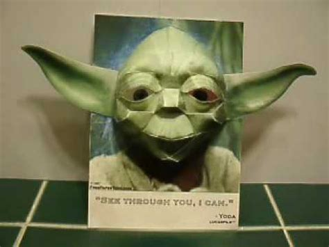 Yoda Papercraft - papercraft 3d yoda illusion he s you