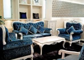 blue living room set italian blue fabric sofa sets living room furniture