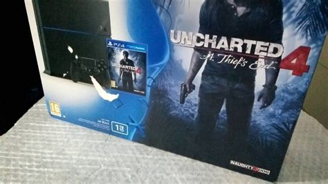 Ps4 Uncharted 4 Limited Tanpa playstation 4 ps4 1tb uncharted 4 2 controller bundle plus fifa 16 unboxing