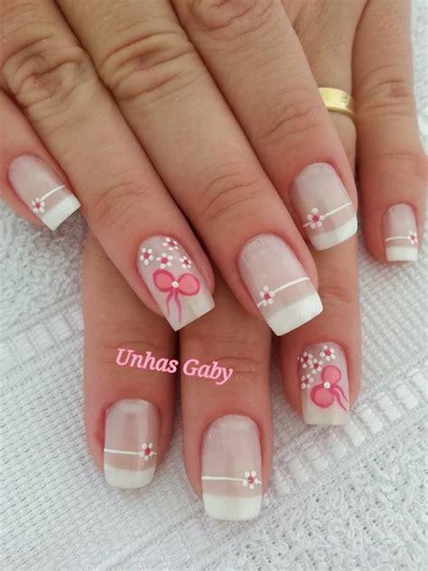 imagenes de uñas decoradas frances las 25 mejores ideas sobre dise 241 os de manicura francesa