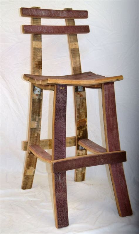 Wine Barrel Stools With Back by Best 25 Wine Barrel Bar Stools Ideas On Wine