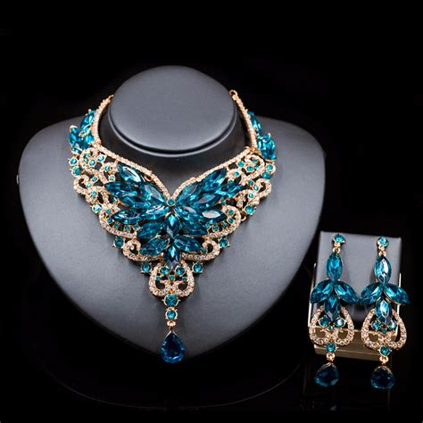 Fashion Bridal Jewelry Sets fashion indian jewelry set dubai necklace earrings