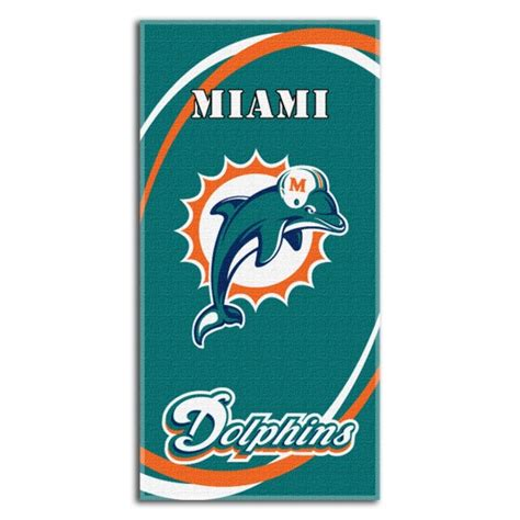 miami dolphins bedding miami dolphins nfl 30 quot x 60 quot terry beach towel