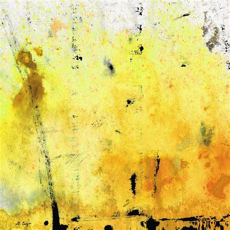 Duvet Cover Gray Yellow Abstract Art Lemon Haze By Sharon Cummings