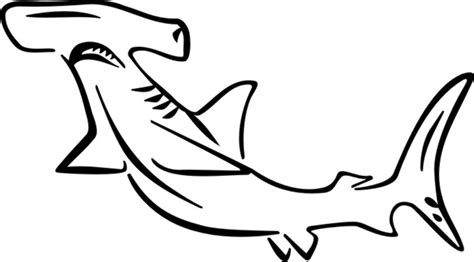 coloring page of a hammerhead shark hammerhead shark human coloring pages