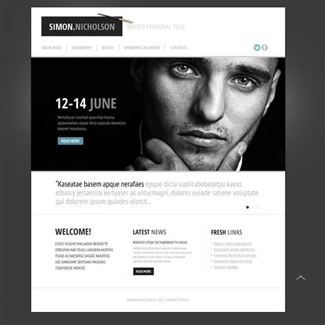 Personal Html Templates by Personal Page Website Template 39613