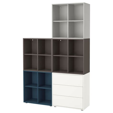 ikea eket cabinet eket cabinet combination with feet multicolour 1