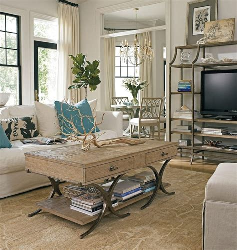 Table L For Living Room Living Room Coastal Living Room Features Rustic Wood Coffee Table With Drawers Also White Sofa
