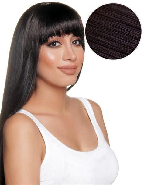 black clip on bangs cleopatra clip in bangs off black 1b bellami bellami