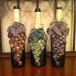 wine bottle decoration with marbles
