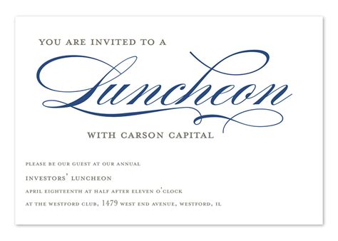 employee holiday luncheon invitation template invited to lunch corporate invitations by invitation consultants ic rlp 1381