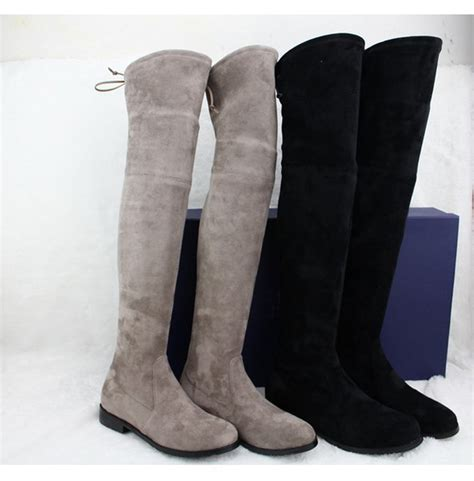 popular plus size thigh high flat boots buy cheap plus