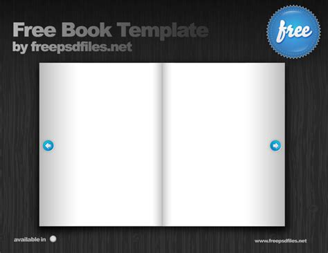 book psd template free psd files
