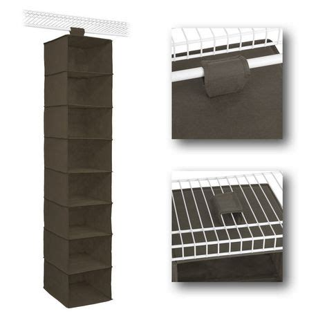 Closetmaid 30 Inch Shelf by Closetmaid 54 Inch Canteen 8 Shelf Hanging Organizer