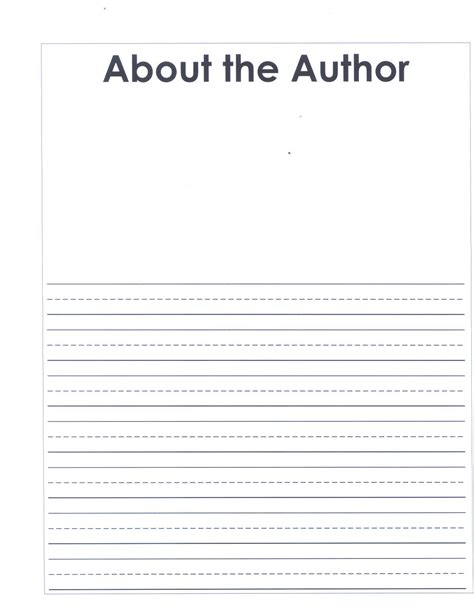 about the author template grade 2 writing units of study home
