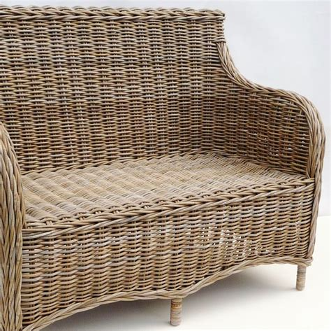 rattan two seater sofa grey rattan sofa 2 seater bliss and bloom ltd