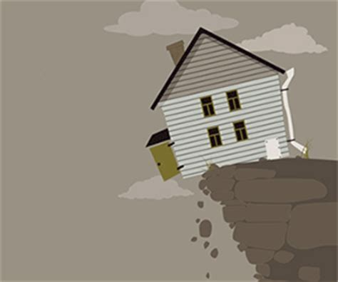 houses falling off cliffs project risk