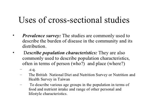 disadvantages of cross sectional studies cross sectional study overview