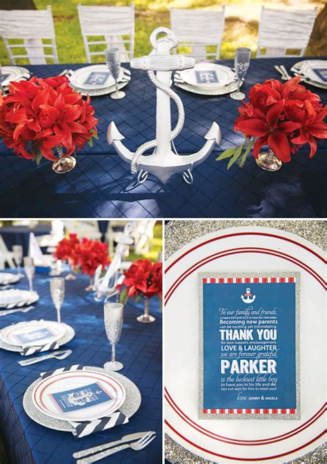 Anchor Decorations For Baby Shower Amazing Ahoy It S A Boy Nautical Baby Shower