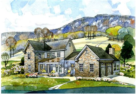 farmhouse plans new south classics valley view farmhouse