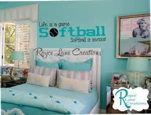 Paint Colors For Girls Bedrooms softball decal life is a game softball is by