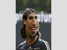 Karikatur Sami Khedira, FC Real Madrid   Karikaturen von ... Kevin Großkreutz