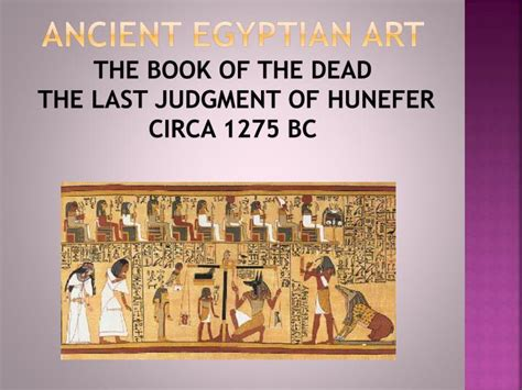 the last judgment books ppt ancient near eastern and ancient