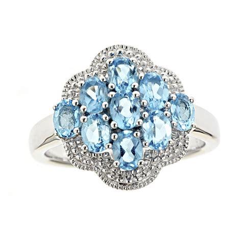 sterling silver garnet cluster ring jewelry
