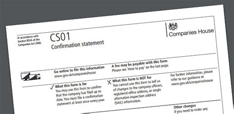 Companies House Accounts Template by The Confirmation Statement Explained