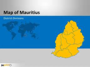 mauritius map fully editable powerpoint slides