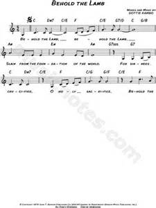 printable lyrics to now behold the lamb david phelps quot behold the lamb quot sheet music leadsheet in