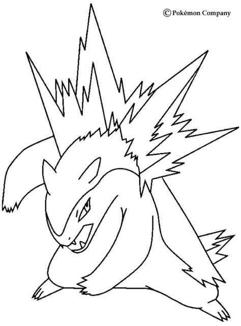 pokemon coloring pages quilava typhlosion coloring pages hellokids com