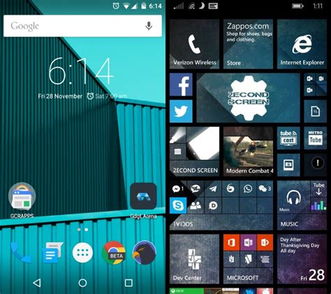 android vs windows phone windows phone 8 1 vs android lollipop mspoweruser