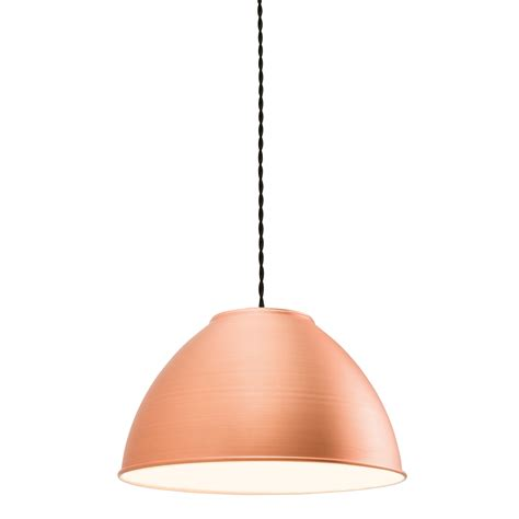Pendant Only endon dench pendant shade only 60w matt copper plate