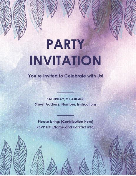 birthday invitation flyer template invitation flyer office templates