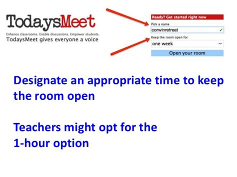 todaysmeet join room engaging learners in digital conversations