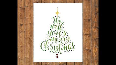 watercolor     merry christmas calligraphy youtube