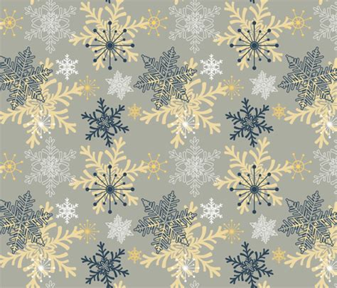01bb23 Snowflake Patten Simple Design Blue blue gold snowflakes pattern fabric diane555